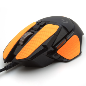 Mouse grip tape for Logitech G502 from the brand TrueGrip - front left view