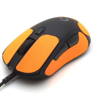 Mouse grip tape for Logitech G403 from the brand TrueGrip - front left view
