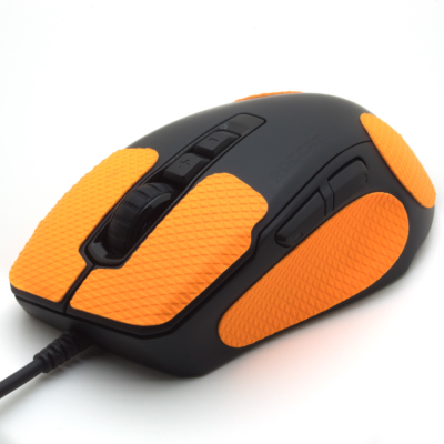 Mouse grip tape for Roccat Kone PURE ultra from the brand TrueGrip - front left view